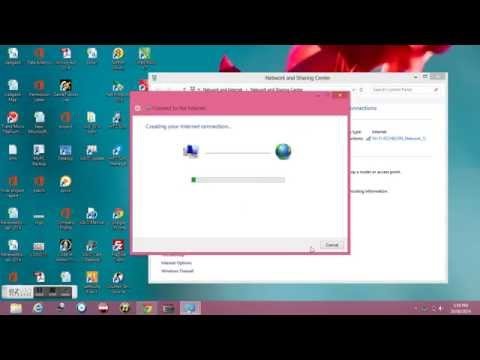 how to create broadband connection in windows 8