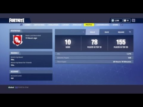 Fortnite-stats costumes and more
