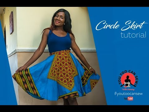 EASY WAY TO MAKE A CIRCLE SKIRT | BEGINNER'S SEWING