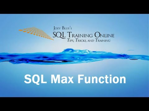 Sql Training Online - Sql Max Function