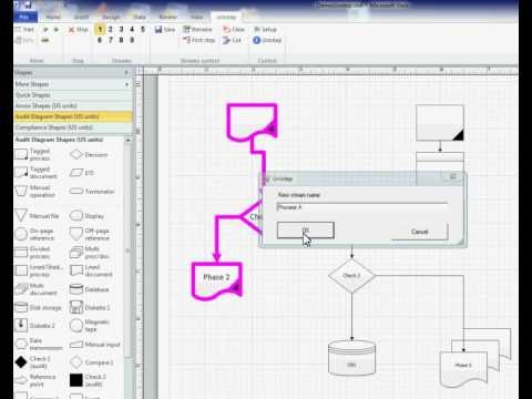 Visio process diagram animation