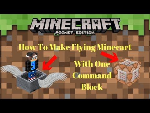 How To Make Flying Minecart In Minecraft Pocket Edition
