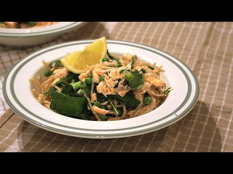 Creamy Salmon & Lemon Spaghetti