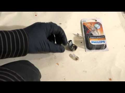 How to replace rear register plate light bulbs in car