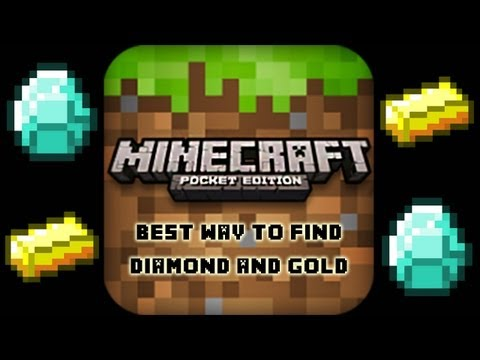 Minecraft PE- How To Find Diamond and Gold
