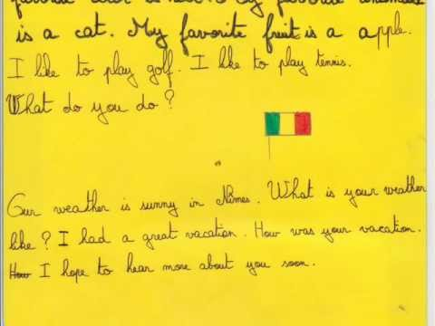 French penfriend letters