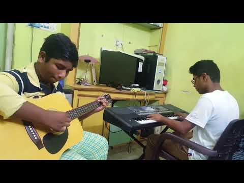 adiga adiga from ninnukori keyboard and guitar cover by p.v.satyanarayana and nawaz