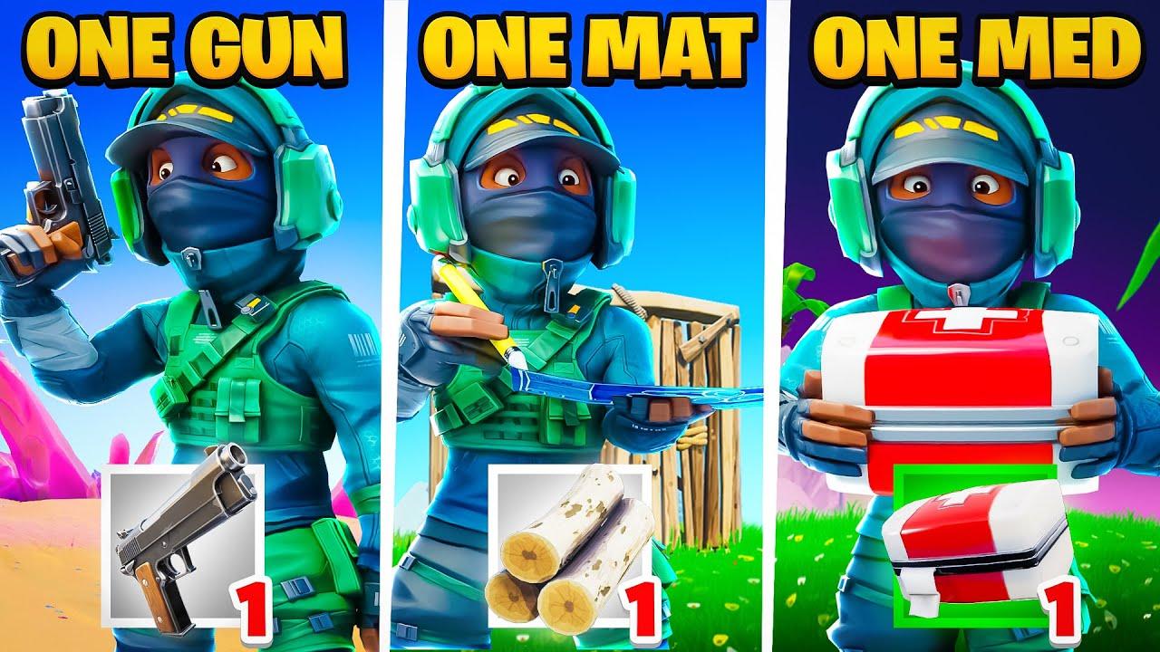 ONE GUN, ONE MED, ONE MAT...