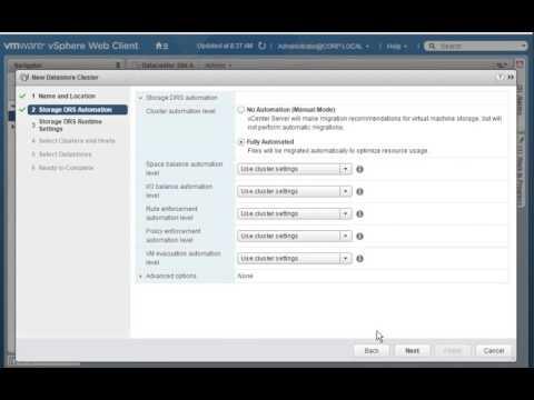 Configuring Storage DRS
