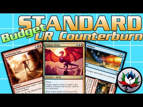 "MTG – $25 ""Budget"" U/R Izzet Counterburn Standard Deck Tech for Magic: The Gathering!"