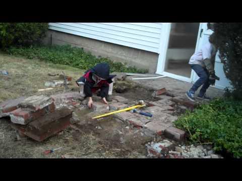 House Hoppers: Boys back breaking brick walk break up
