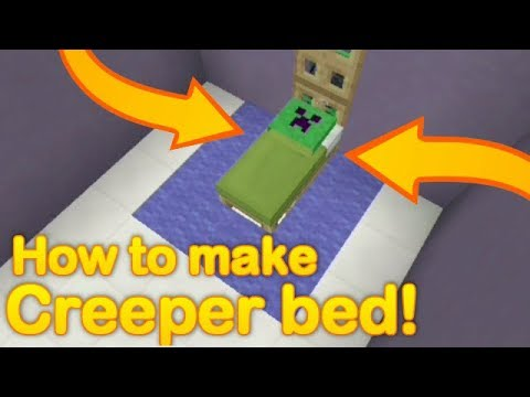 Minecraft - How to make a CREEPER BED - llama trick (no mods or addons)