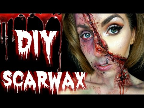 DIY ♡ 2 Ingredient SFX SCAR WAX ♡ HOW TO make your own SFX scar wax for Halloween Makeup ♡