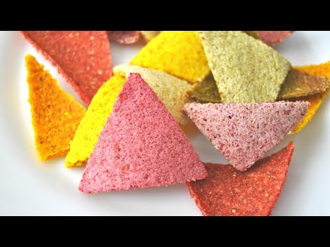 Rainbow Tortilla Chips (baked not fried!)