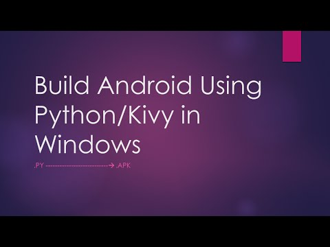 How to build android apk using Python/Kivy (part 1)