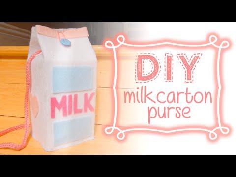 DIY: Milk Carton Shoulderbag/Purse