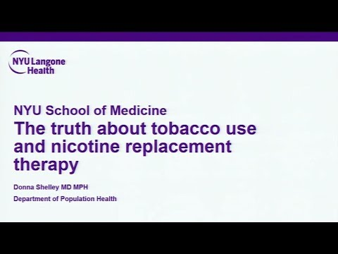 The Truth about Tobacco and Nicotine Replacements