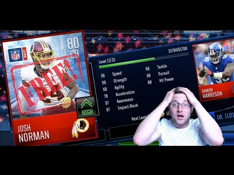 Madden NFL Mobile 18 Tips and Tricks, Free Josh Norman Elite Player. Train Your Players Over 100 OVR