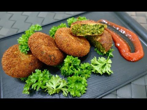Hare Bhare Kebab   Hara Bhara Kabab   Green Vegetable Cutlets   DeepikaKheri's Kitchen