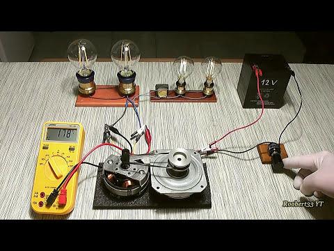 Small alternator 220 volts & motor generator