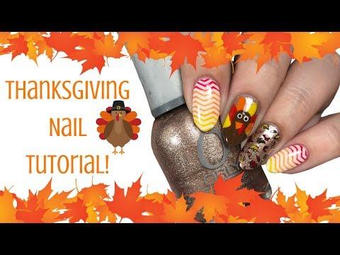 🍁 Thanksgiving Nail Tutorial! 🍁