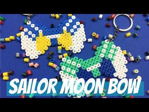 Sailor Moon Perler Beads Keychain Bow - NerDIY