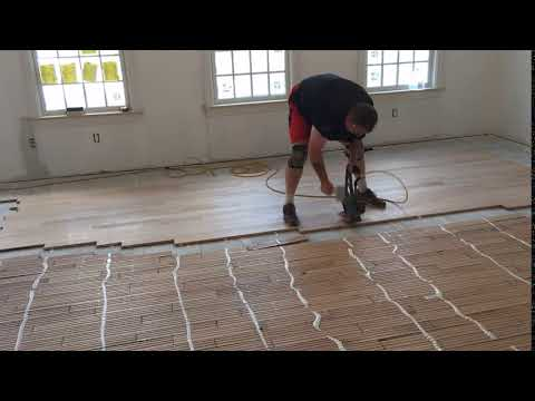 Installing hardwood flooring on top of radiant heat the efficient way!