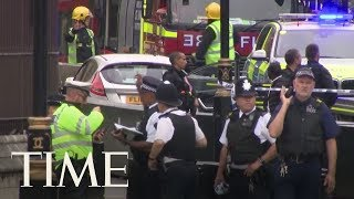 Several Injured As Car Crashes Into Barriers Outside Parliament In London | TIME