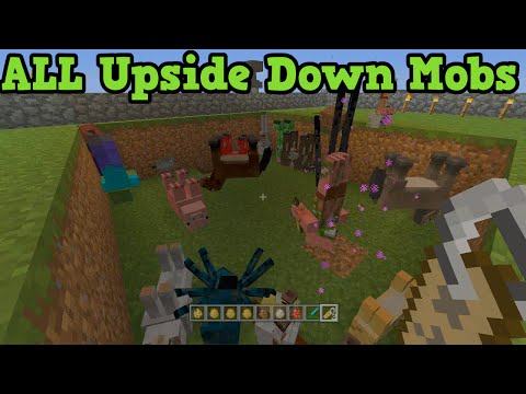 Minecraft Xbox + PS3 - Upside Down Mobs Easter Egg (All Mobs)