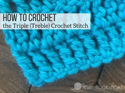 How to Crochet the Triple (Treble) Crochet Stitch
