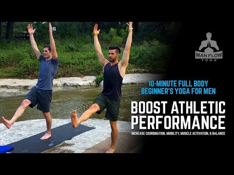 10-Min Full Body Beginner's Yoga for Men to Increase Mobility, Muscle Activation, and Balance