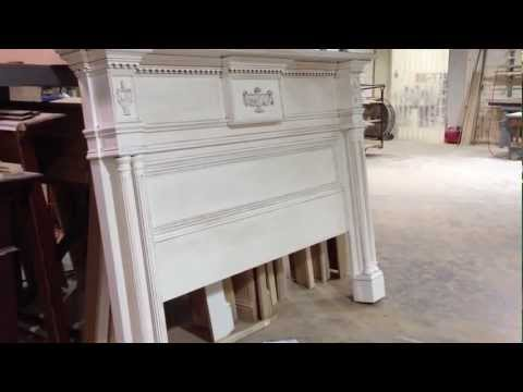 Lewisburg Mantel Style Bed Headboard - Chateau Collection