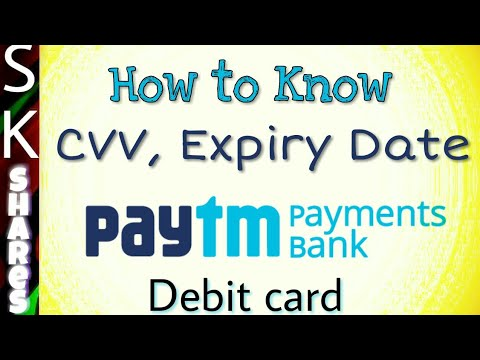 How to View CVV and expiry date of Paytm digital debit card