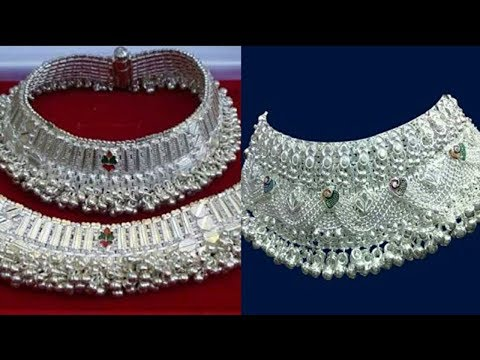 Latest Indian Pure Silver Anklet Designs - She Fashion