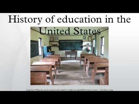 History of education in the United States