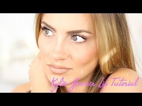 Kylie Jenner Inspired Nude Lip Makeup Tutorial || How to Fake BIG Lips || Angela Lanter