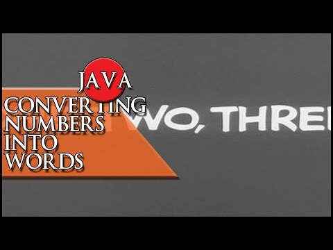 JAVA Converting numbers into words
