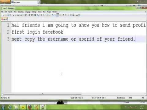 How to Send Profile Pics in Any Friend Facebook Chatbox