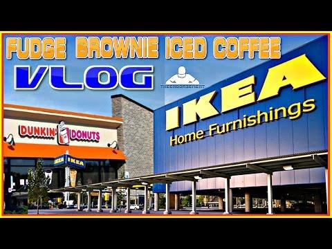 DUNKIN' DONUTS®   FUDGE BROWNIE ICED COFFEE REVIEW   IKEA VLOG