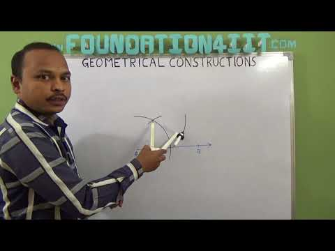 How to construct angle of 30 degree using Compass