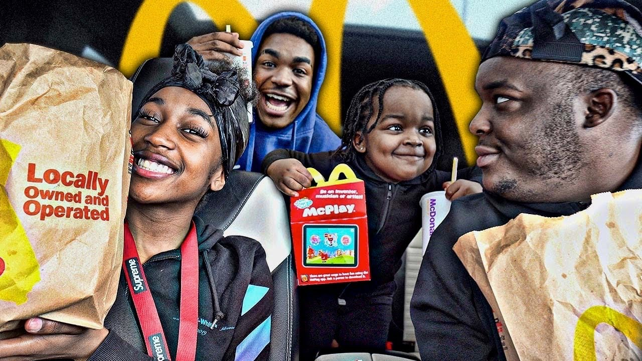 I Asked My Little Sister Boyfriend About Fighting My Brother | Mcdonalds Mukbang