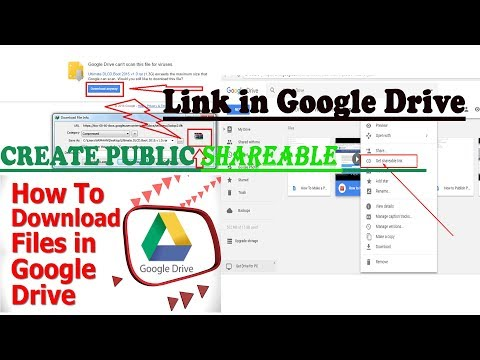 Create the Direct SHAREABLE Download Link from Google Drive's Files or Folders