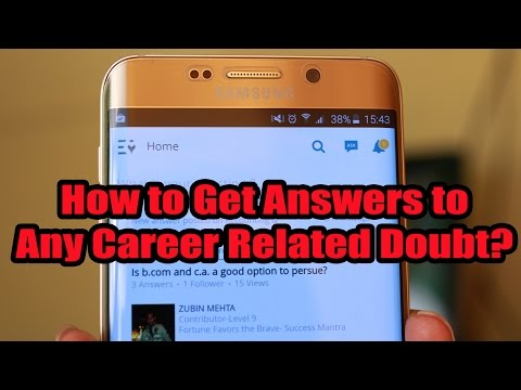 How to get Answers to all your Career related Doubts through Android App?