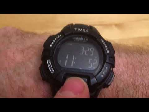 How to set the time On a Timex Ironman watch