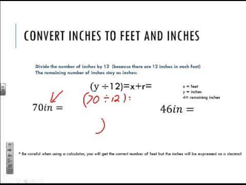 Convert Feet and inches