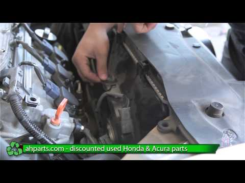 How to install change AC Condenser Fan 2004 2005 2006 2007 2008 Acura REPLACEMENT REPLACE DIY