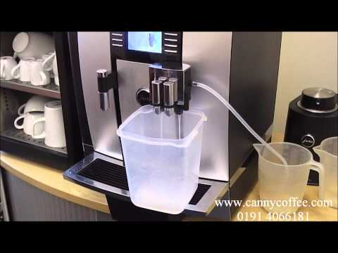 How to clean the milk system on your Jura Giga X7 bean to cup coffee machine