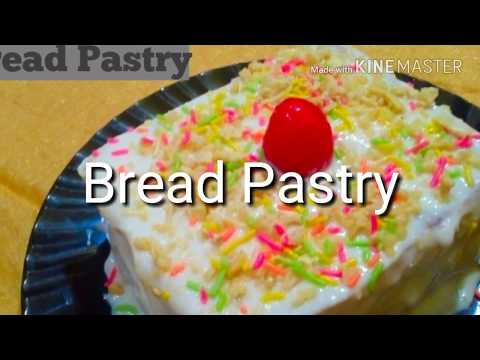 How to make Shortcut Pastry in just 2 minutes/ Bread Pastry Without Cream / Low calorie Pastry