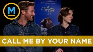 Armie Hammer and Timothée Chalamet dish on their new film