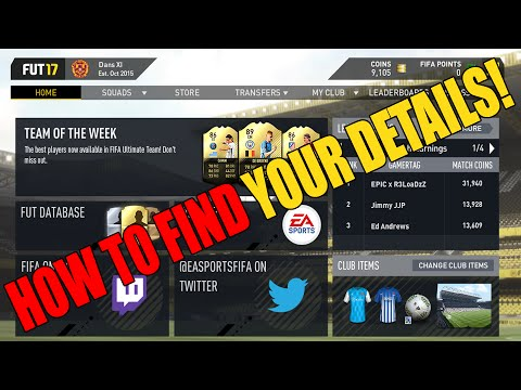 Fifa 17 Web App (Origin)- How To Get Your Ea Account Email! (Details)